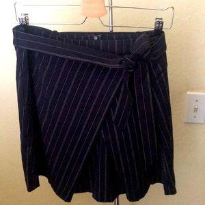 NEW Banana Republic Faux Wrap Pinstripe Skirt